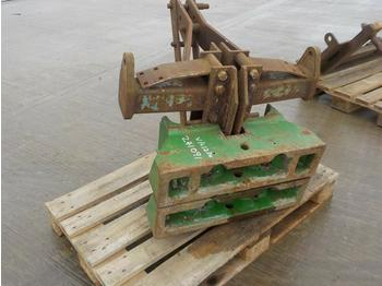 John Deere Weight Block (2 of) to suit 3 Point Linkage - противовес